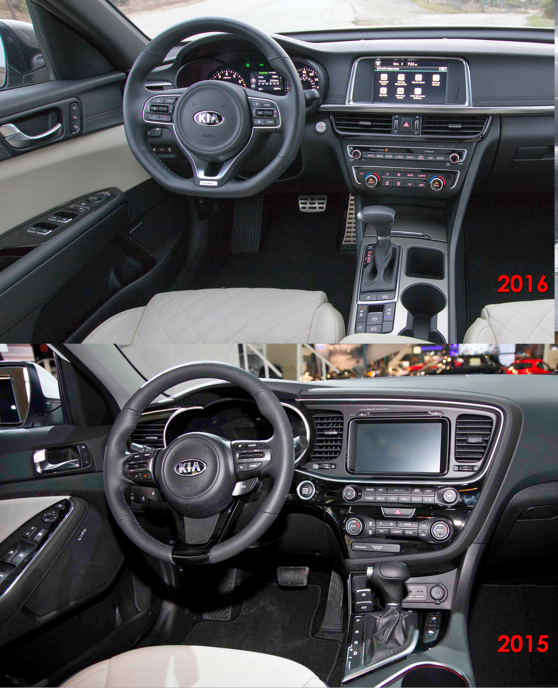 kia optima ex interior 2014. thread optima 2015 vs 2016 in pictures side by kia ex interior 2014